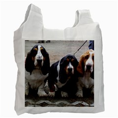 3 Basset Hound Puppies Recycle Bag (Two Side)