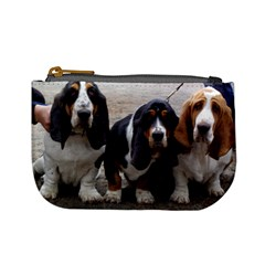 3 Basset Hound Puppies Mini Coin Purses