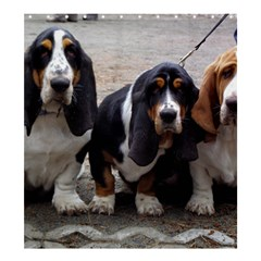 3 Basset Hound Puppies Shower Curtain 66  x 72  (Large)