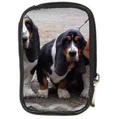 3 Basset Hound Puppies Compact Camera Cases