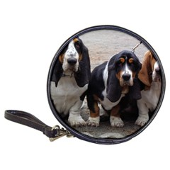 3 Basset Hound Puppies Classic 20-CD Wallets