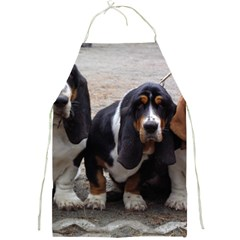 3 Basset Hound Puppies Full Print Aprons