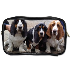 3 Basset Hound Puppies Toiletries Bags