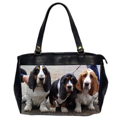 3 Basset Hound Puppies Office Handbags (2 Sides)