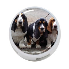 3 Basset Hound Puppies 4-Port USB Hub (Two Sides)