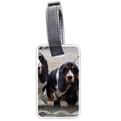 3 Basset Hound Puppies Luggage Tags (One Side)