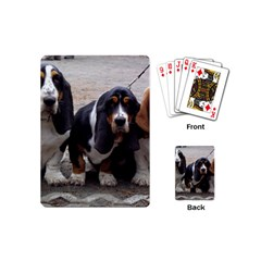 3 Basset Hound Puppies Playing Cards (Mini)
