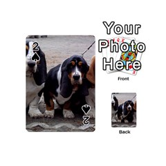3 Basset Hound Puppies Playing Cards 54 (Mini)