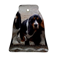 3 Basset Hound Puppies Bell Ornament (Two Sides)