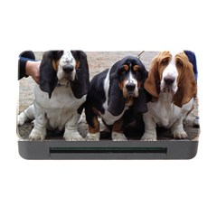 3 Basset Hound Puppies Memory Card Reader with CF