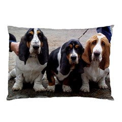 3 Basset Hound Puppies Pillow Case (Two Sides)
