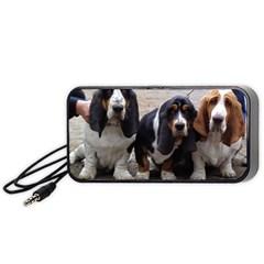 3 Basset Hound Puppies Portable Speaker (Black)