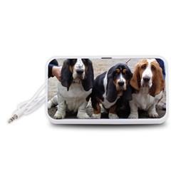 3 Basset Hound Puppies Portable Speaker (White)