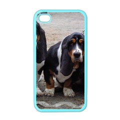 3 Basset Hound Puppies Apple iPhone 4 Case (Color)