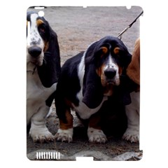 3 Basset Hound Puppies Apple iPad 3/4 Hardshell Case (Compatible with Smart Cover)