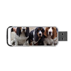 3 Basset Hound Puppies Portable USB Flash (Two Sides)