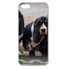 3 Basset Hound Puppies Apple Seamless iPhone 5 Case (Clear)
