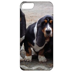 3 Basset Hound Puppies Apple iPhone 5 Classic Hardshell Case