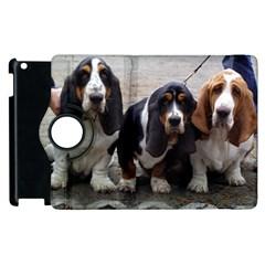 3 Basset Hound Puppies Apple iPad 2 Flip 360 Case