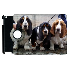 3 Basset Hound Puppies Apple iPad 3/4 Flip 360 Case