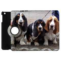3 Basset Hound Puppies Apple iPad Mini Flip 360 Case