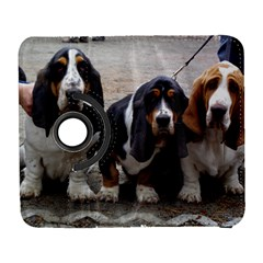 3 Basset Hound Puppies Galaxy S3 (Flip/Folio)