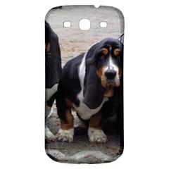 3 Basset Hound Puppies Samsung Galaxy S3 S III Classic Hardshell Back Case
