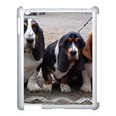 3 Basset Hound Puppies Apple iPad 3/4 Case (White)