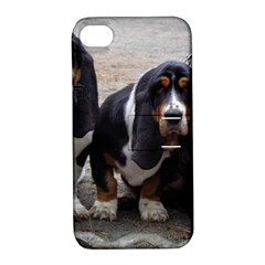 3 Basset Hound Puppies Apple iPhone 4/4S Hardshell Case with Stand