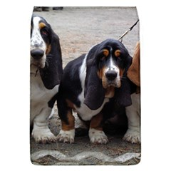 3 Basset Hound Puppies Flap Covers (L)
