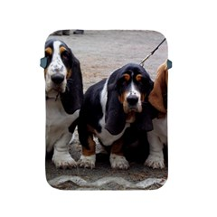 3 Basset Hound Puppies Apple iPad 2/3/4 Protective Soft Cases