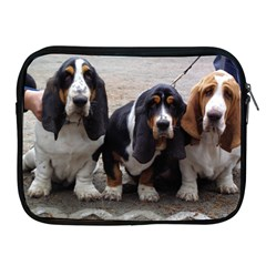 3 Basset Hound Puppies Apple iPad 2/3/4 Zipper Cases