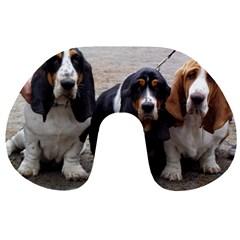 3 Basset Hound Puppies Travel Neck Pillows