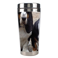 3 Basset Hound Puppies Stainless Steel Travel Tumblers
