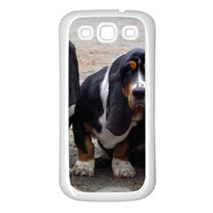 3 Basset Hound Puppies Samsung Galaxy S3 Back Case (White)