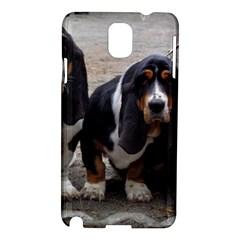 3 Basset Hound Puppies Samsung Galaxy Note 3 N9005 Hardshell Case
