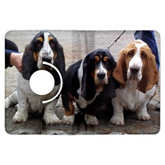 3 Basset Hound Puppies Kindle Fire HDX Flip 360 Case