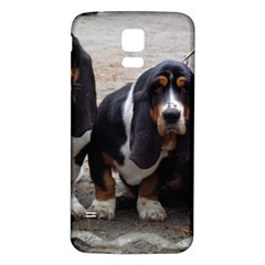 3 Basset Hound Puppies Samsung Galaxy S5 Back Case (White)