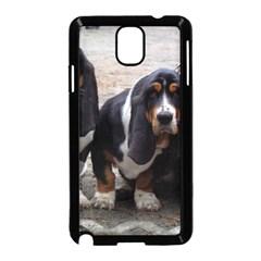 3 Basset Hound Puppies Samsung Galaxy Note 3 Neo Hardshell Case (Black)