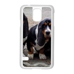3 Basset Hound Puppies Samsung Galaxy S5 Case (White)