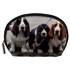 3 Basset Hound Puppies Accessory Pouches (large)