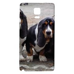 3 Basset Hound Puppies Galaxy Note 4 Back Case
