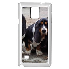 3 Basset Hound Puppies Samsung Galaxy Note 4 Case (White)