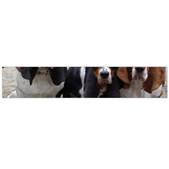 3 Basset Hound Puppies Flano Scarf (Large)