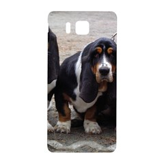 3 Basset Hound Puppies Samsung Galaxy Alpha Hardshell Back Case