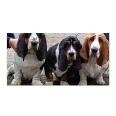 3 Basset Hound Puppies Satin Wrap