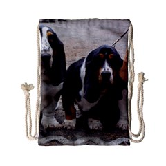 3 Basset Hound Puppies Drawstring Bag (Small)