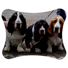 3 Basset Hound Puppies Jigsaw Puzzle Photo Stand (Bow)