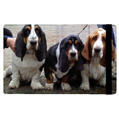 3 Basset Hound Puppies Apple iPad Pro 9.7   Flip Case