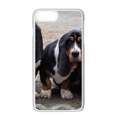 3 Basset Hound Puppies Apple iPhone 7 Plus White Seamless Case